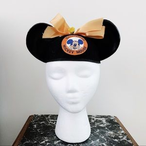 Vintage 1970s Mickey Mouse Ears Child's Hat